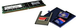 Kits de mémoire et cartes compact flash pour serveurs et routeurs