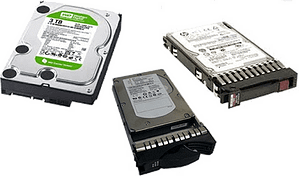 Server and storage system hard drives