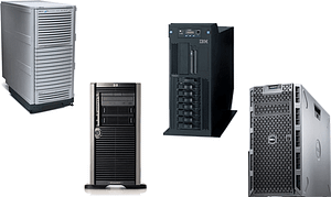 Tower servers from HPE, IBM, Lenovo and Dell