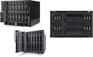 Blade servers from HPE, IBM, Lenovo and Dell